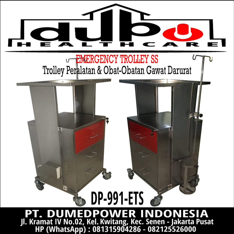 Emergency Trolley Stainless Steel DP-991-ETS