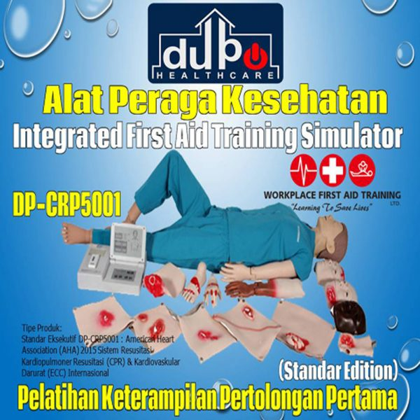 Phantom CPR - Manekin RJP DP-CRP5001 - Simulator Pelatihan First Aid Terpadu