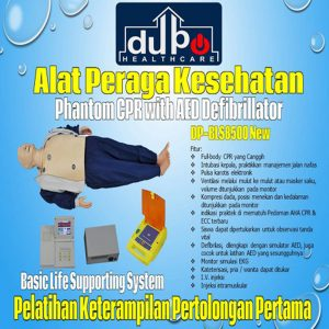 Phantom CPR with AED Defibrillator Trainer DP-BLS8500 New Basic Life Supporting System