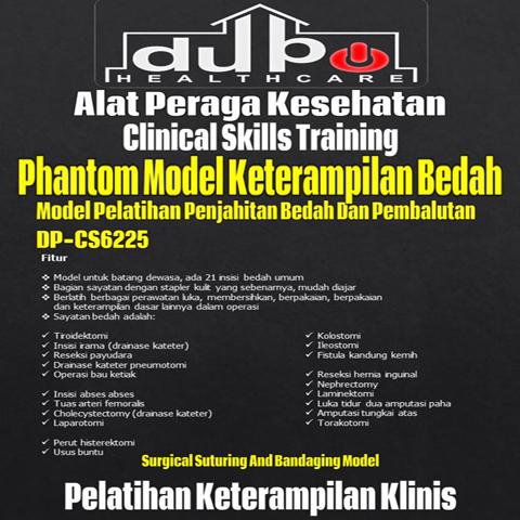 Phantom Model Keterampilan Penjahitan Bedah dan Pembalutan DP-CS6225 DuPo Healthcare-02