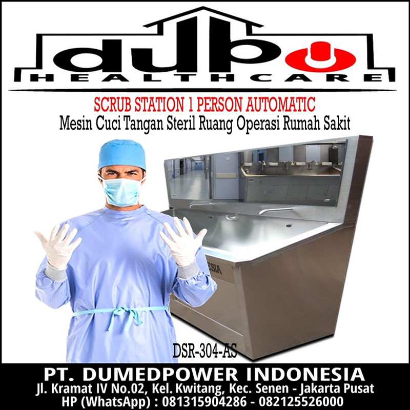 Scrub Station 1 Person Automatic - Scrub Up 1 User Otomatis - Scrub Sink 1 Operator Otomat - Jual Harga Murah