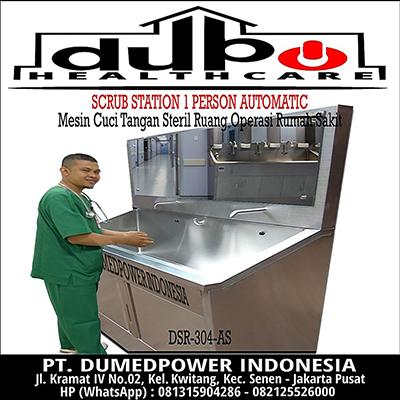 Scrub Station 1 Person - Scrub Up 1 User - Scrub Sink 1 Operator - Jual Harga Murah Garansi 1 Tahun